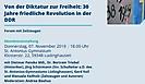 Einladung zur Veranstaltung Friedliche Revolution in der DDR
