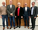 von links nach rechts Andreas Beermann, Matthias Reiche, Elisabeth Hüttenschmidt, Jörg Läge, Dr. Patrick Tonner